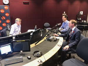 The Minister for Environment and Water David Speirs and Goyder Institute Director Dr Kane Aldridge  discussing the report's release in the ABC 891 studios.